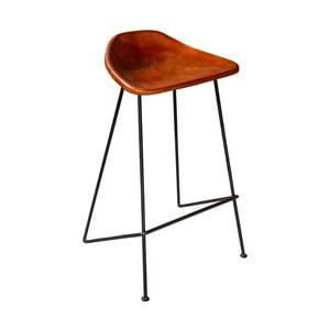 Barová stolička s poťahom z kože Antic Line Missy