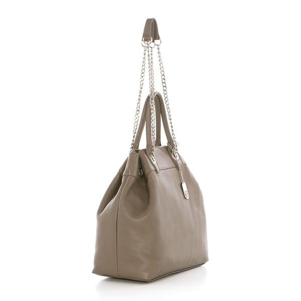 Béžová kožená kabelka Federica Bass Apollo