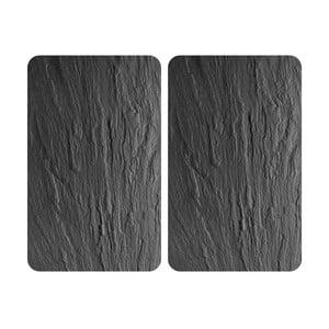 Sada 2 sklenených krytov na sporák Wenko XL State, 52×40 cm