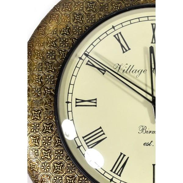 Nástenné hodiny z tepaného kovu Diu, 47 cm