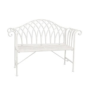 Lavica Country White, 128x44x93 cm