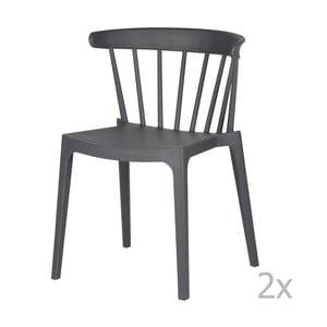 Sada 2 sivých stoličiek WOOOD Bliss