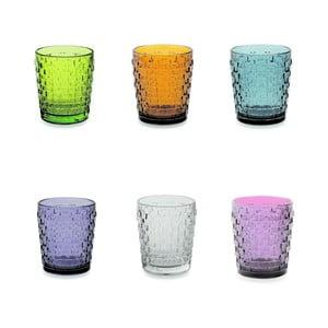 Sada 6 farebných pohárov Villa d'Este Quadri