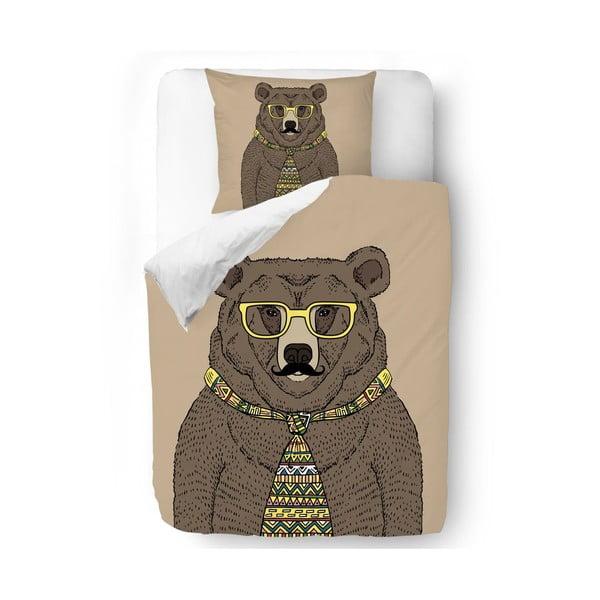 Obliečky Hipster Bear 140x200 cm