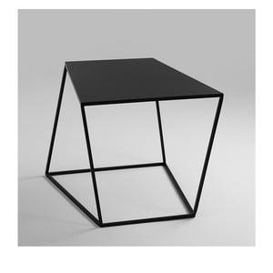 Čierny odkladací stolík Custom Form Zak, 50 × 50 cm