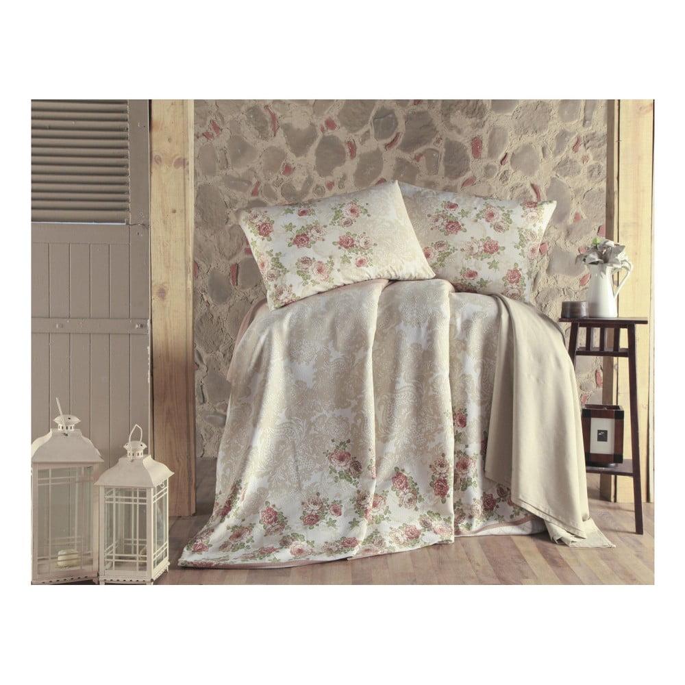 Set prikrývky cez posteľ, plachty a obliečok na vankúš na dvojlôžko Fruity, 200 × 235 cm