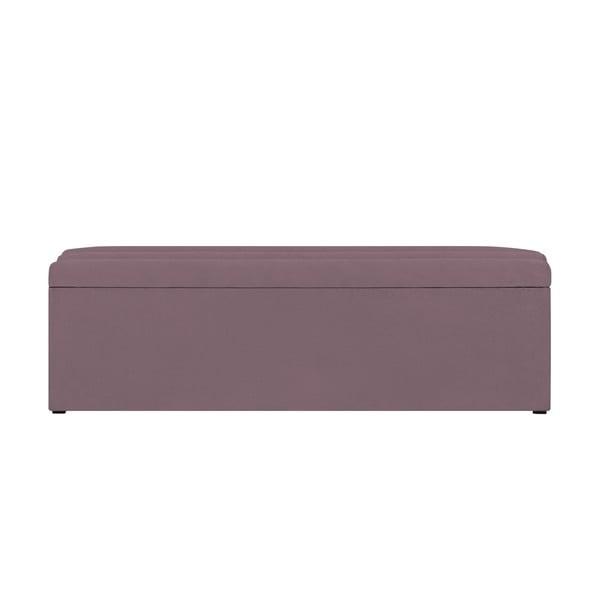 Levanduľovo-fialový otoman s úložným priestorom Cosmopolitan Design LA, 180 x 47 cm