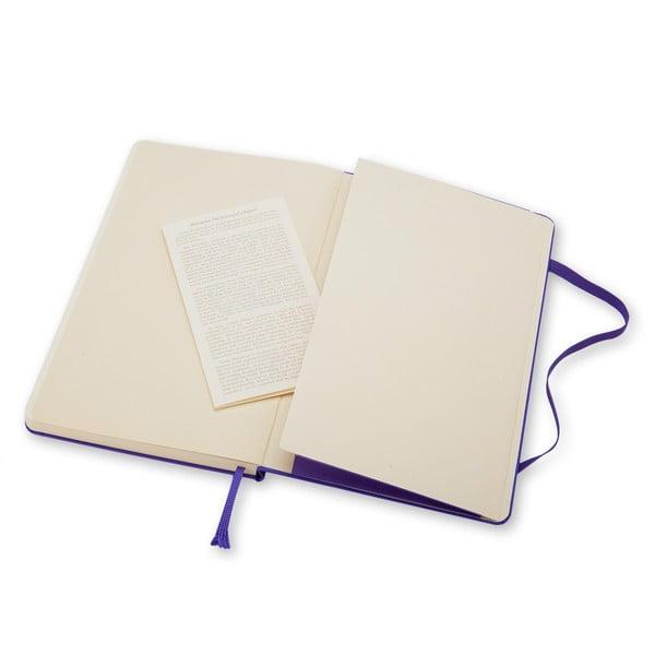 Malý fialový zápisník Moleskine Hard, bezlinajok