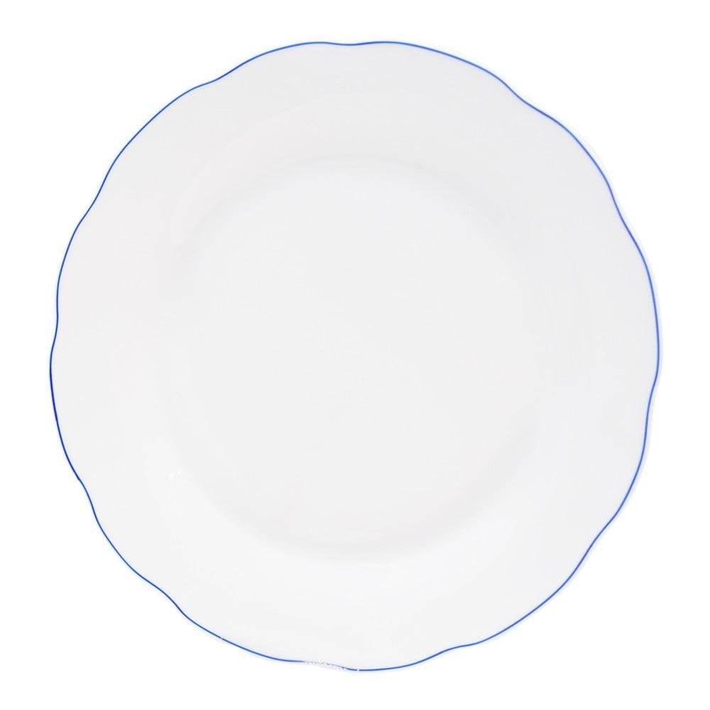 Biely porcelánový plytký tanier Orion Blue Line a920c77ef71