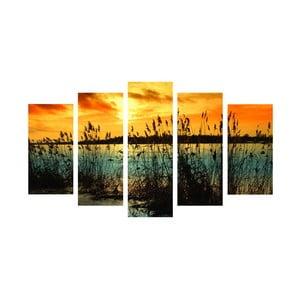 5-dielny obraz Romantic Lake, 60x100 cm