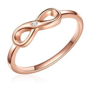 Strieborný prsteň vo farbe ružového zlata s pravým diamantom Tess Diamonds Olivia, veľ. 58