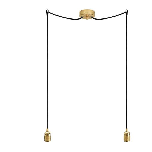Dvojitý závesný kábel Uno, zlatá/čierna/zlatá