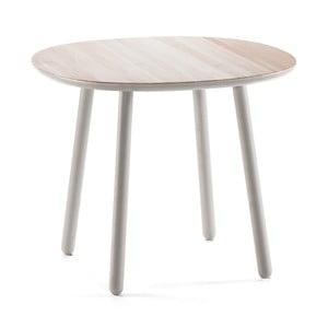 Sivý jedálenský stôl z masívu EMKO Naïve, 90cm