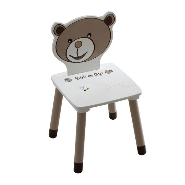 Detská biela stolička 13Casa Teddy