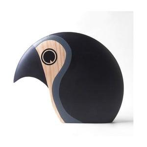 Dekorácia v tvare vtáčika so sivým detailom Architectmade Discus