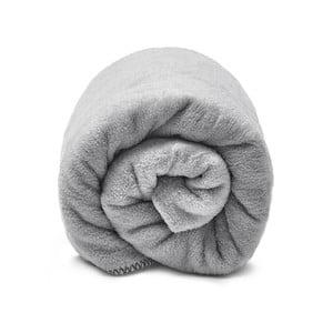 Šedá bavlnená deka hundre, 100 x 150 cm
