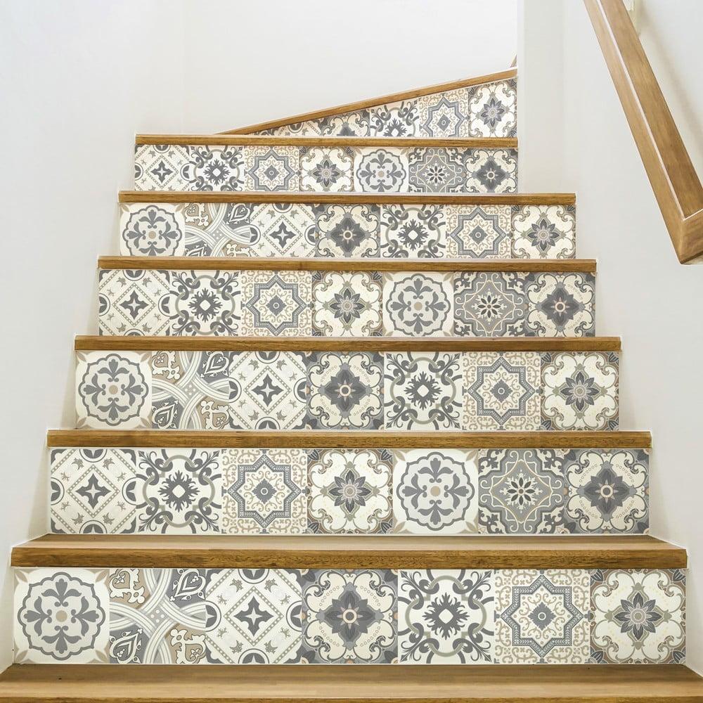 Sada 2 samolepiek na schody Ambiance Carenza, 15 × 105 cm