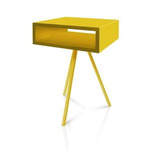 Odkladací stolík Vintme AL2, žltý