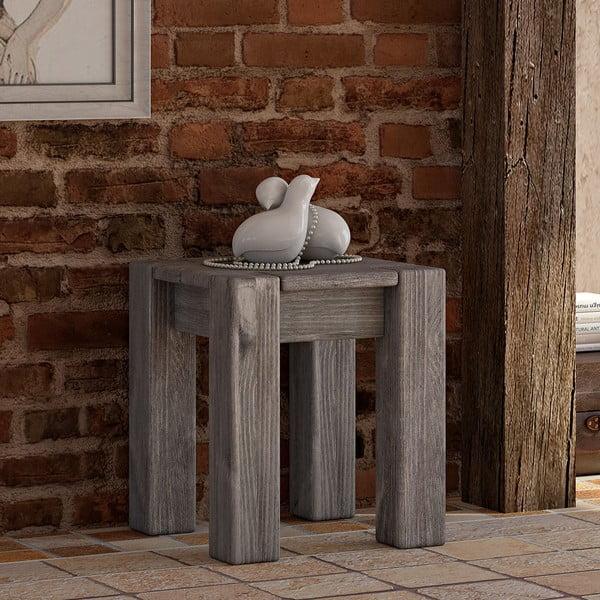 Odkladací stolík/stolička Seart z masívnejborovice, 40x46 cm