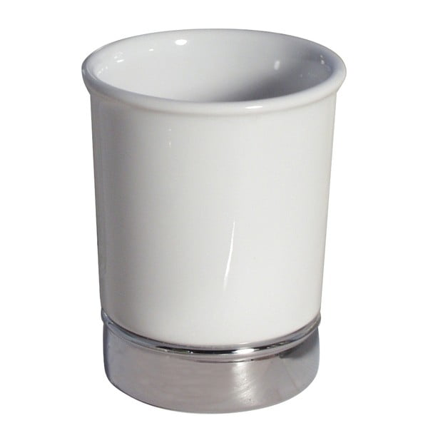 Biely pohárik na zubné kefky InterDesign York