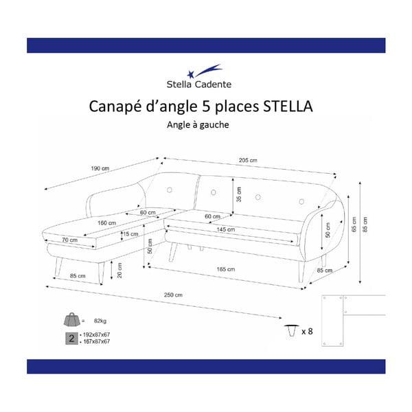 Horčicovožltá trojmiestna pohovka Scandi by Stella Cadente Maison, ľavý roh
