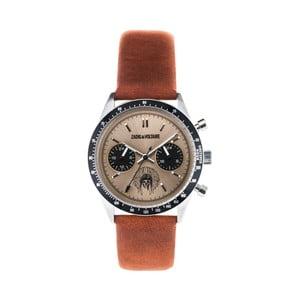 Dámske hodinky s hnedým koženým remienkom Zadig & Voltaire Teddy