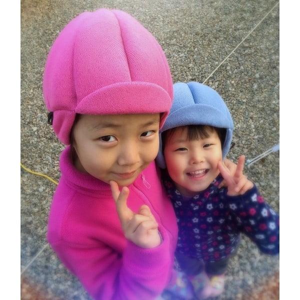 Detská ružová čapica s ochrannými prvkami Ribcap Jackson, veľ. L