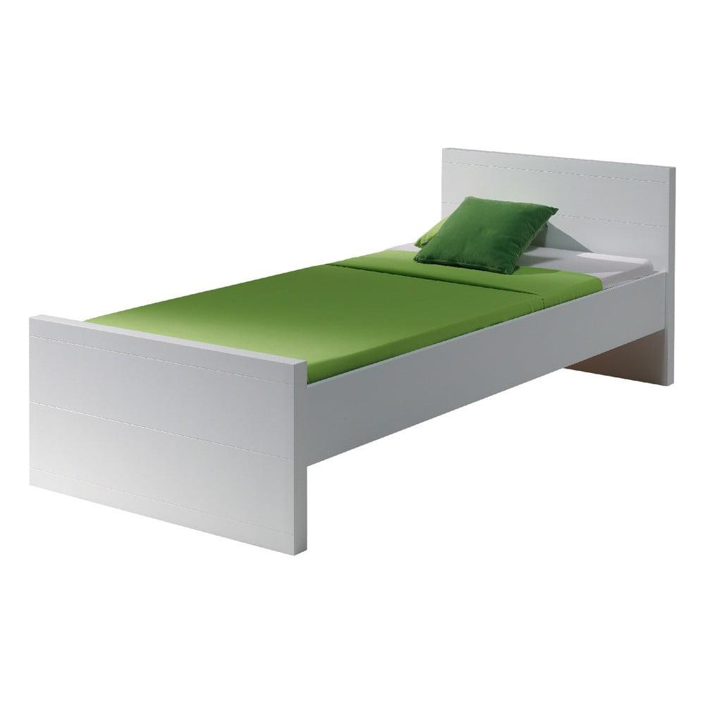 Biela posteľ Vipack Lara White, 90 × 200 cm