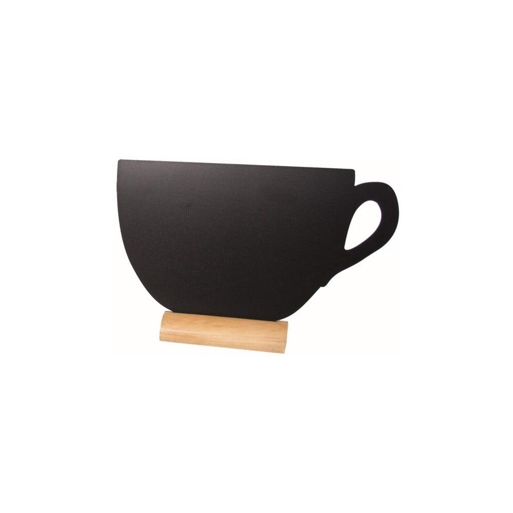 Set popisovacej tabule na stojane a kriedovej fixky Securit® Silhouette Cup, 22 x 33 cm