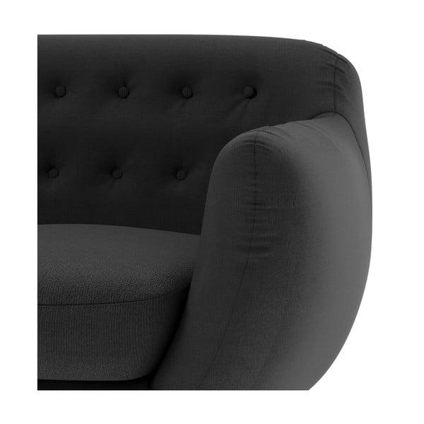 Antracitová sedačka pre troch Wintech Indigo Ornoco