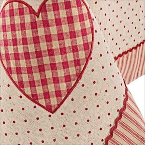 Obrus Bizzotto Anna Red Heart, 140x180 cm