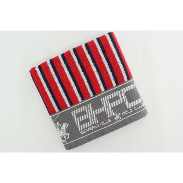 Bavlnený uterák BHPC 50x100 cm, modro-červený