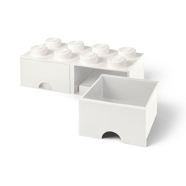 Biely úložný box s dvoma zásuvkami LEGO®