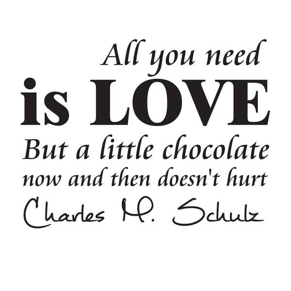 Dekoratívna nástenná samolepka Chocolate