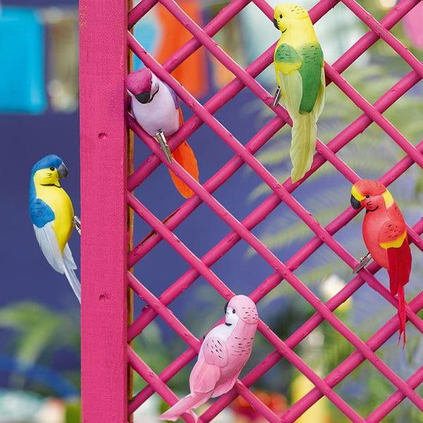 Sada 6 dekoratívnych vtáčikov Talking Tables Fiesta