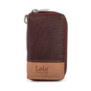 Kožená kľúčenka Lois Brown, 5,5x9,5 cm