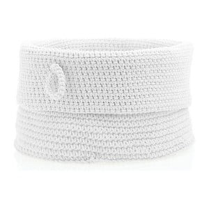 Biely úložný košík Zone Confetti, ⌀ 19 cm