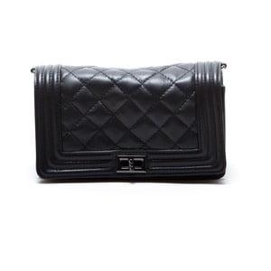 Kožená kabelka Fiola, čierna