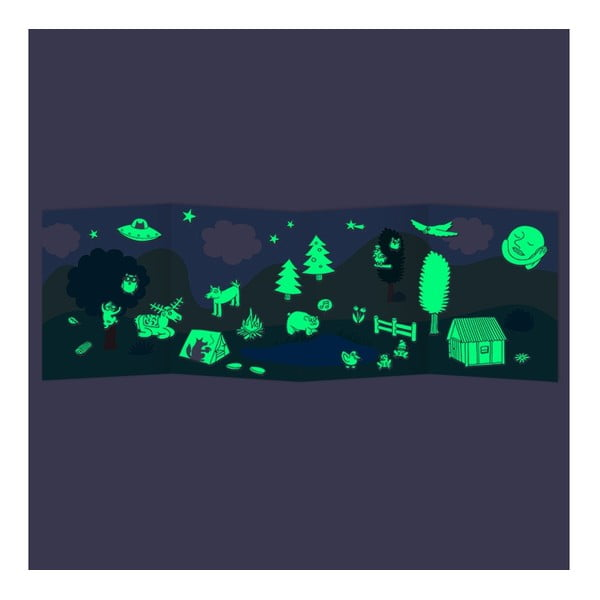 Samolepky svietiace v tme Nature (100 ks)