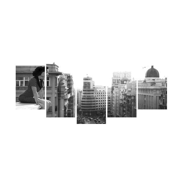 Viacdielny obraz Black&White no. 39, 100x50 cm