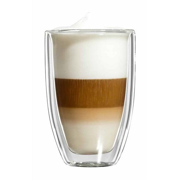 Sada 6 veľkých sklenených hrnčekov na latte macchiato bloomix