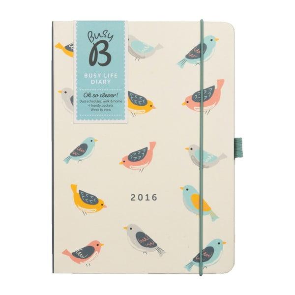 Diár Busy Life Birds 2016