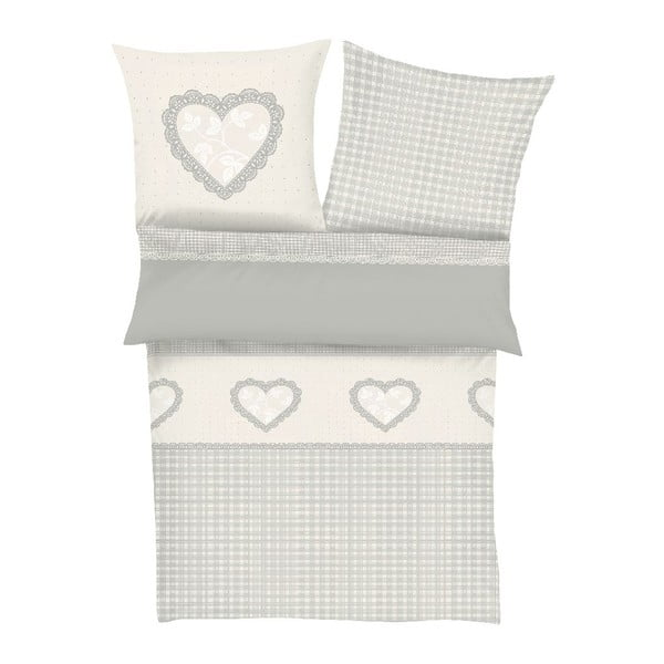 Obliečky Flannel Heart, 140x200 cm