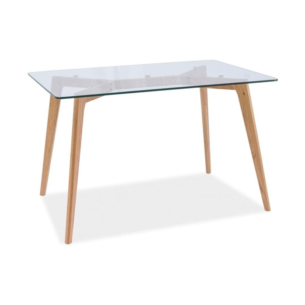 Jedálenský stôl s doskou z tvrdeného skla Signal Oslo, dĺžka 120 cm