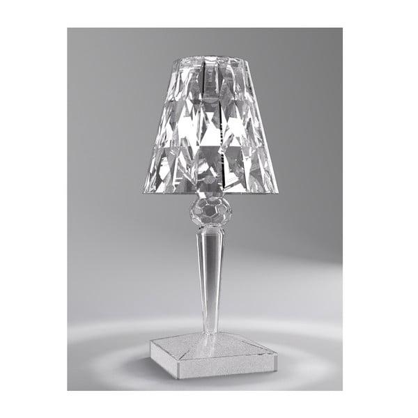Transparentná stolová lampa Kartell Battery