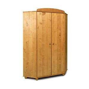 Rohová šatníková skriňa z borovicového dreva Faktum Tomi