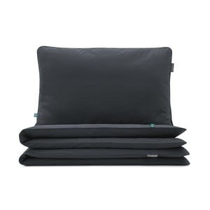 Čierne bavlnené obliečky na dvojposteľ Mumla, 200 x 200 cm