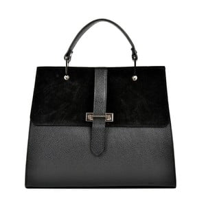 Čierna kožená kabelka Renata Corsi Tarreno