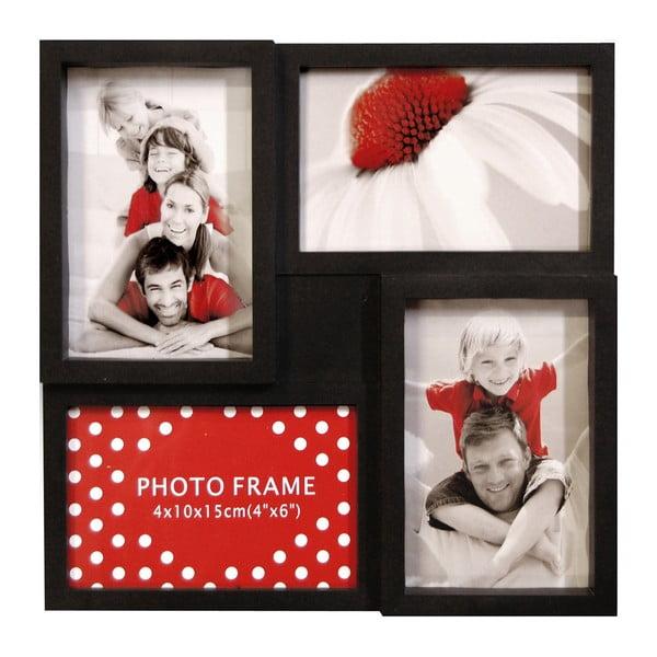 Sada štyroch rámčekov Photo Frama, čierna