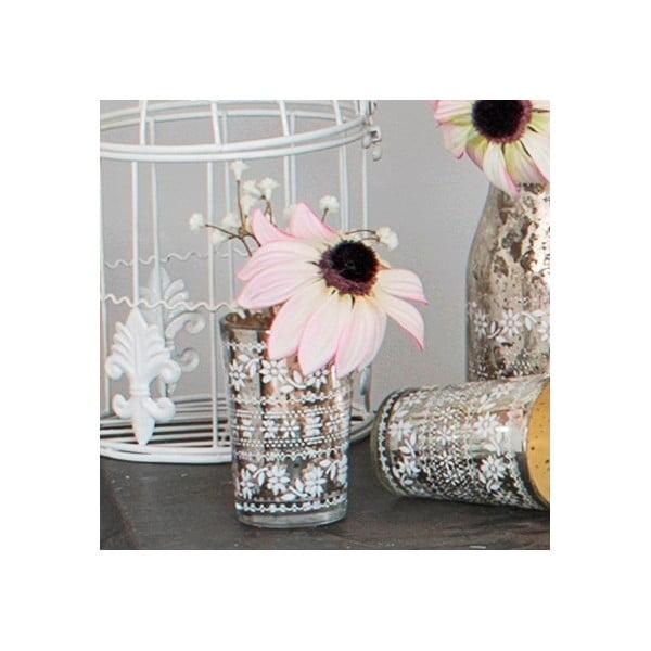 Sklenená váza s umelou kvetinou Susan, 15 cm